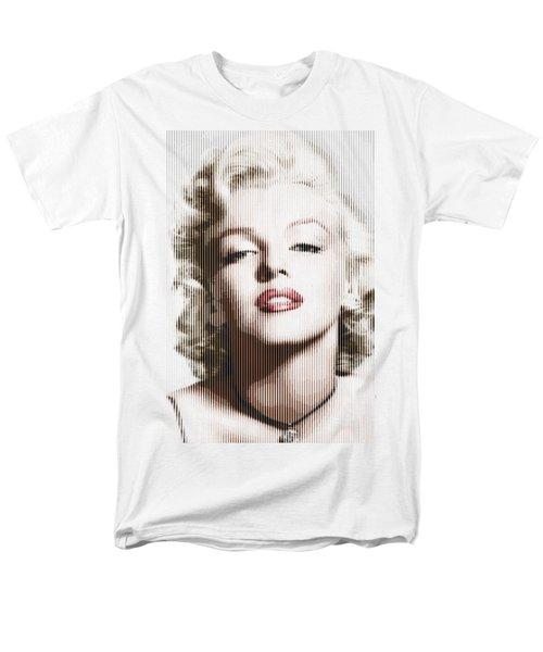 Marilyn Monroe - Colored Verticals Men's T-Shirt  (Regular Fit) by Samuel Majcen