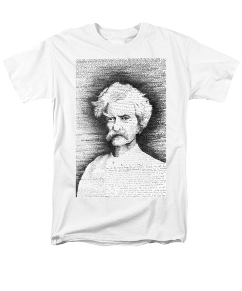 Mark Twain In His Own Words Men's T-Shirt  (Regular Fit) by Phil Vance