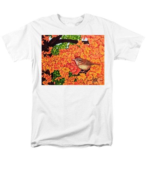 Marsh Wren Men's T-Shirt  (Regular Fit) by Michael Frank