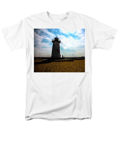 Men's T-Shirt  (Regular Fit) featuring the photograph Martha's Vineyard Lighthouse - Massachusetts by Madeline Ellis