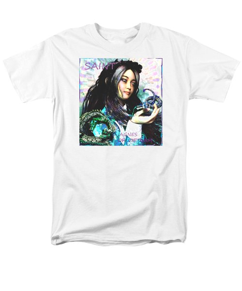 Men's T-Shirt  (Regular Fit) featuring the painting Martyr Of Vietnam Saint Agnes Le Thi Thanh by Suzanne Silvir