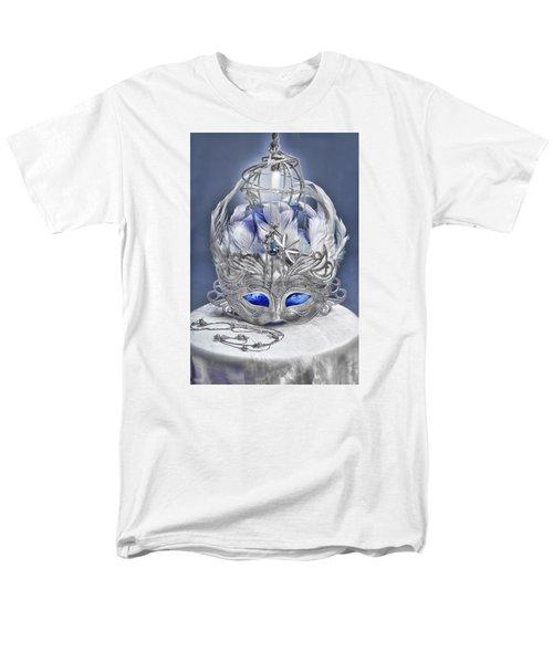 Mask Still Life Blue Men's T-Shirt  (Regular Fit)