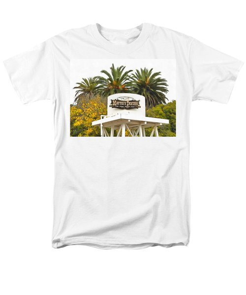 Men's T-Shirt  (Regular Fit) featuring the photograph Matties Tavern Los Olivos California by Floyd Snyder