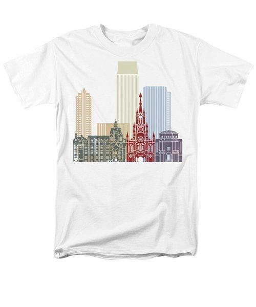 Medellin Skyline In Poster Men's T-Shirt  (Regular Fit) by Pablo Romero
