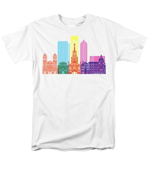 Medellin Skyline Pop Men's T-Shirt  (Regular Fit) by Pablo Romero