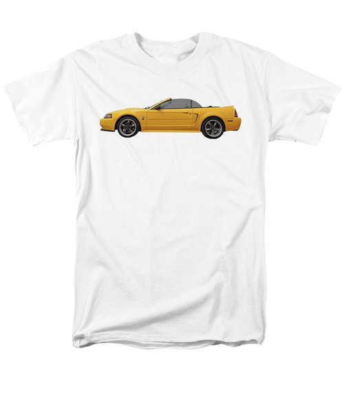 Men's T-Shirt  (Regular Fit) featuring the photograph Mellow Yellow 1999 Mustang  by Gill Billington