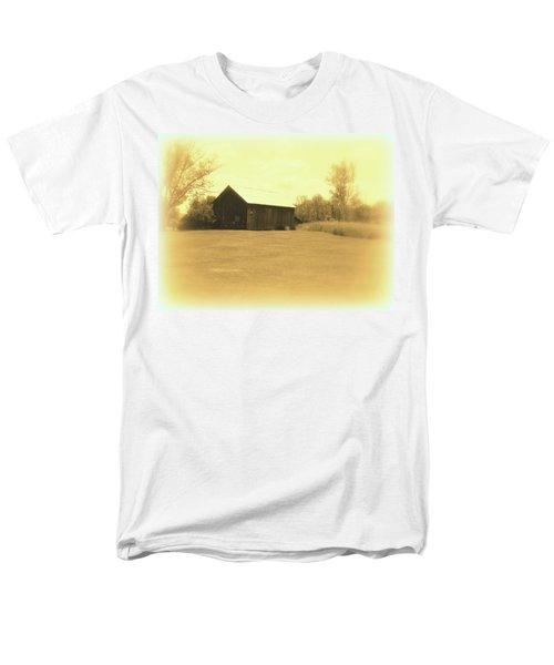 Memories Of Long Ago - Barn Men's T-Shirt  (Regular Fit) by Susan Lafleur