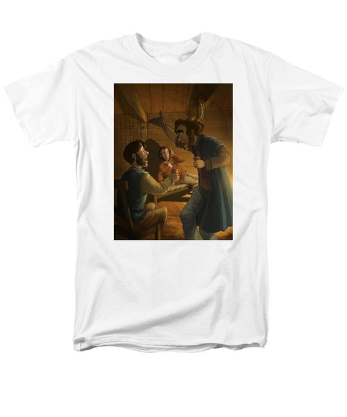 Men In A Hut Men's T-Shirt  (Regular Fit) by Andy Catling