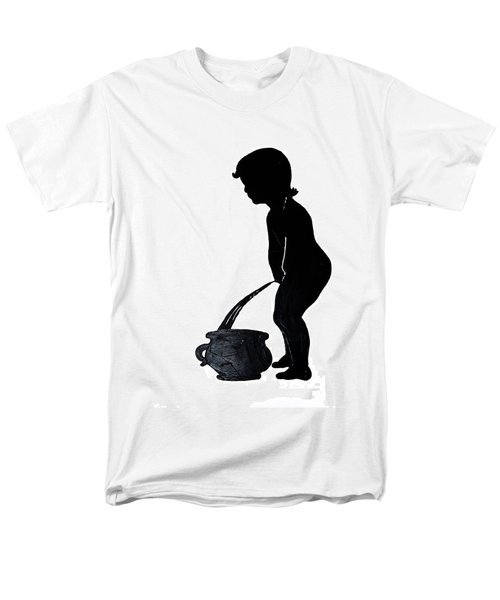 Mens Room Sign Silhouette Men's T-Shirt  (Regular Fit) by Sally Weigand