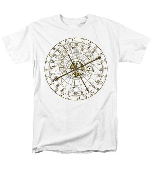 Metal Astronomical Clock Men's T-Shirt  (Regular Fit) by Michal Boubin