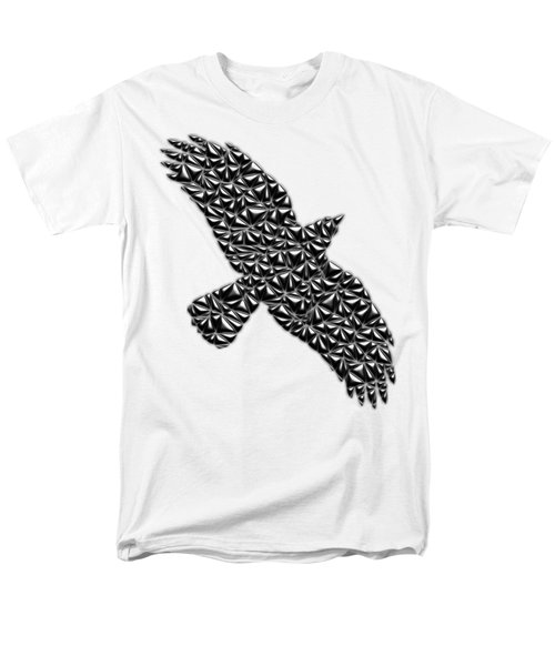 Metallic Crow Men's T-Shirt  (Regular Fit) by Chris Butler