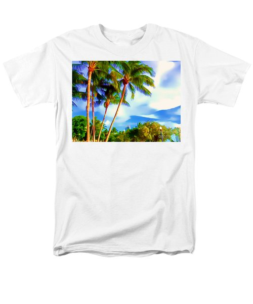 Miami Maurice Gibb Memorial Park Men's T-Shirt  (Regular Fit) by Patrice Torrillo