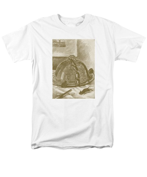 Men's T-Shirt  (Regular Fit) featuring the drawing Mice Have It Covered by David Davies