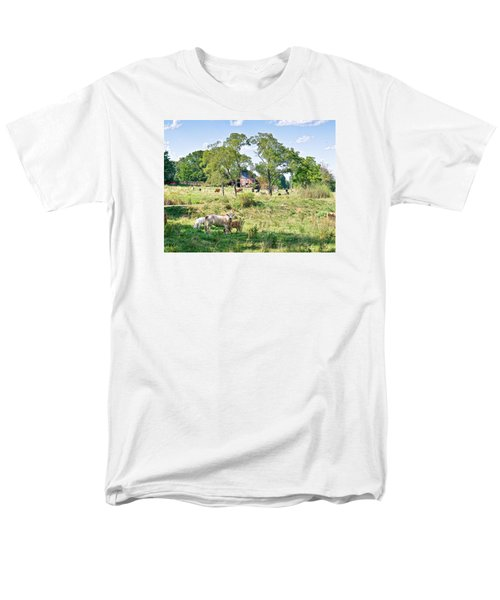 Midwest Cattle Ranch Men's T-Shirt  (Regular Fit)