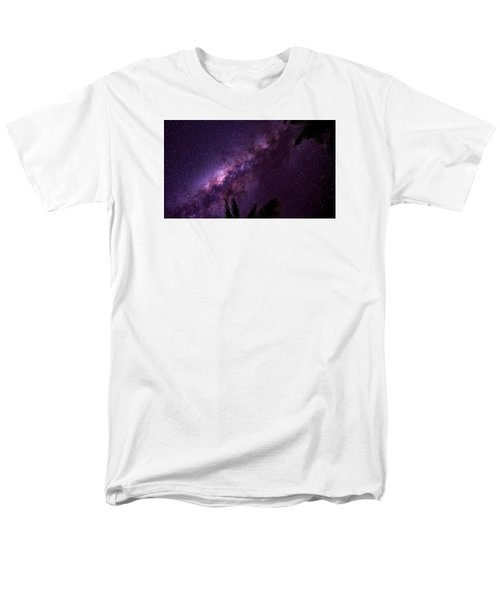 Milky Way Over Mission Beach Narrow Men's T-Shirt  (Regular Fit) by Avian Resources