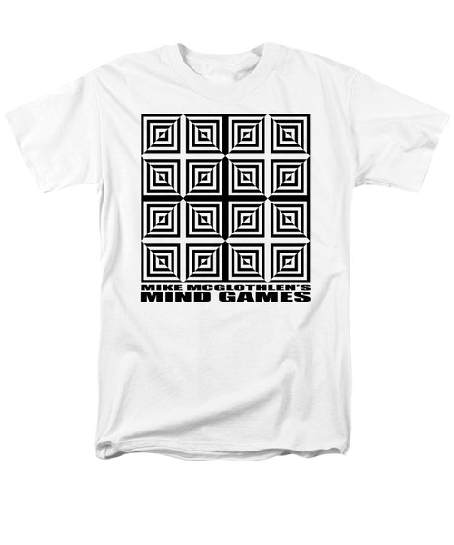 Men's T-Shirt  (Regular Fit) featuring the drawing Mind Games 28se by Mike McGlothlen