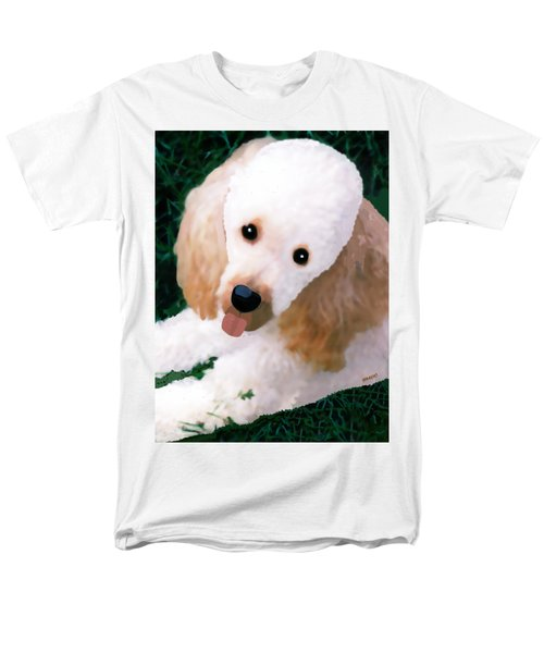 Miniature Poodle Albie Men's T-Shirt  (Regular Fit) by Marian Cates