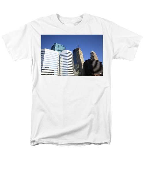 Men's T-Shirt  (Regular Fit) featuring the photograph Minneapolis Skyscrapers 11 by Frank Romeo