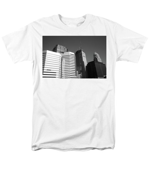 Men's T-Shirt  (Regular Fit) featuring the photograph Minneapolis Skyscrapers Bw 5 by Frank Romeo