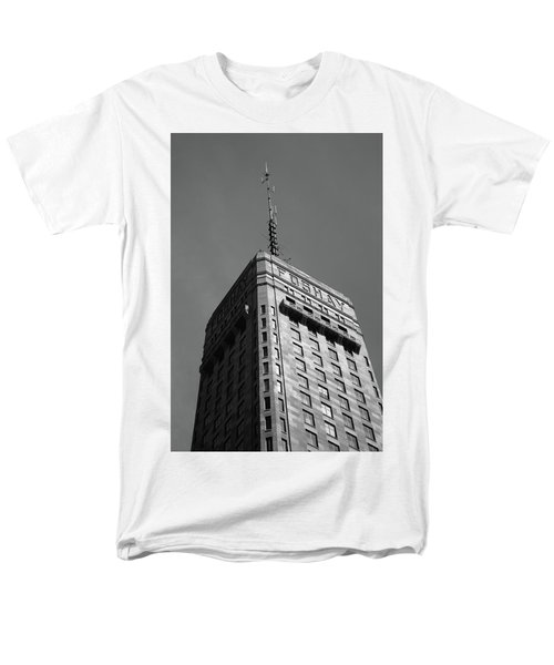 Men's T-Shirt  (Regular Fit) featuring the photograph Minneapolis Tower 6 Bw by Frank Romeo