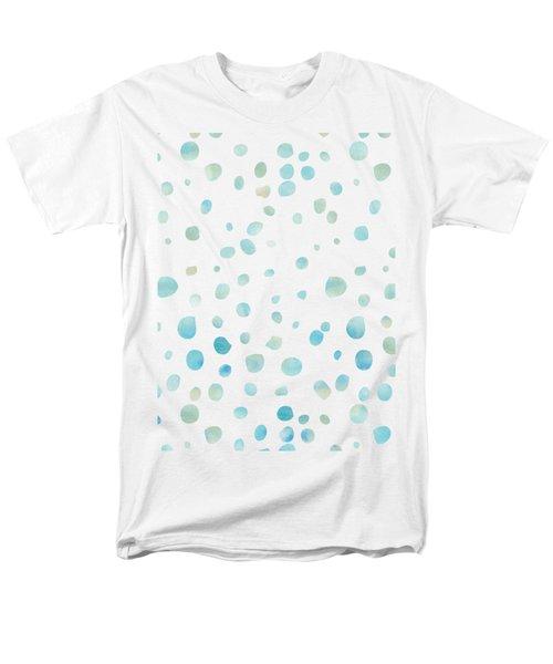 Mint Blue Watercolor Confetti Dots Men's T-Shirt  (Regular Fit)
