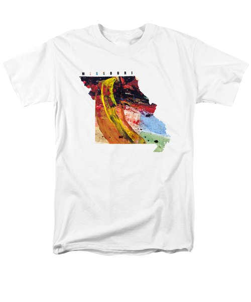 Missouri Map Art - Painted Map Of Missouri Men's T-Shirt  (Regular Fit) by World Art Prints And Designs