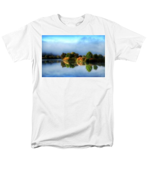 Misty Fall Colors On The River Men's T-Shirt  (Regular Fit) by Lynn Hopwood