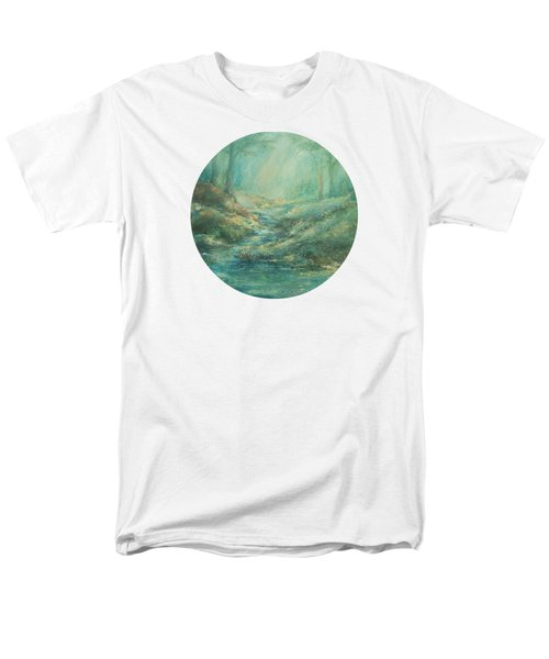 The Misty Forest Stream Men's T-Shirt  (Regular Fit) by Mary Wolf