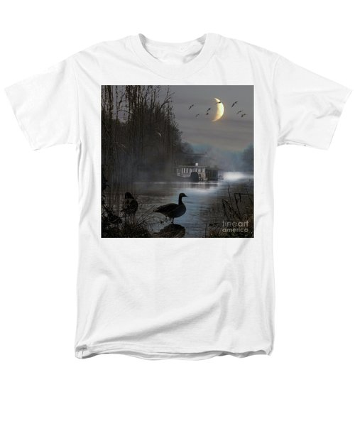 Misty Moonlight Men's T-Shirt  (Regular Fit) by LemonArt Photography