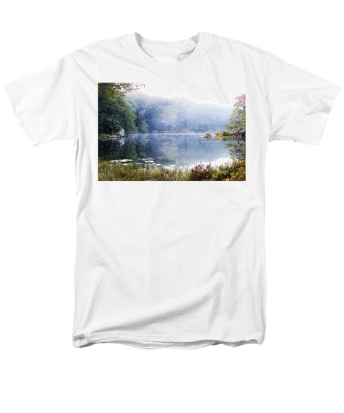 Men's T-Shirt  (Regular Fit) featuring the photograph Misty Morning At John Burroughs #1 by Jeff Severson