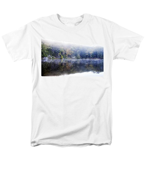 Men's T-Shirt  (Regular Fit) featuring the photograph Misty Morning At John Burroughs #2 by Jeff Severson
