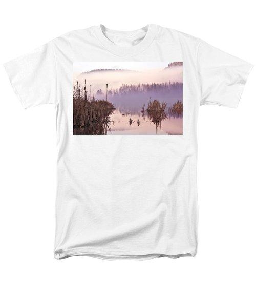 Misty Morning At Vaseux Lake Men's T-Shirt  (Regular Fit) by John Poon