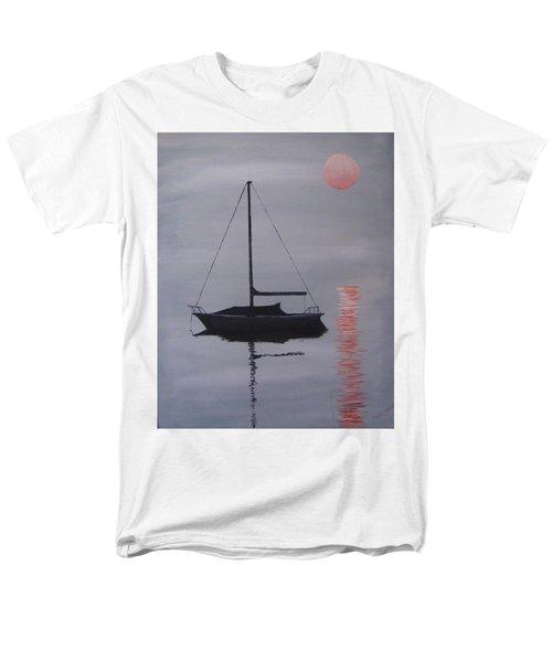 Misty Morning Mooring Men's T-Shirt  (Regular Fit) by Jack Skinner