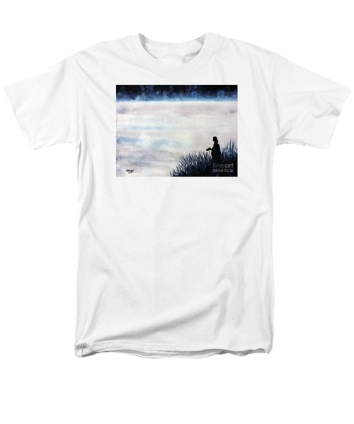 Men's T-Shirt  (Regular Fit) featuring the painting Misty Morning Photographer by Tom Riggs