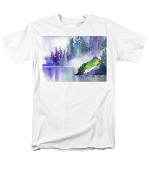 Men's T-Shirt  (Regular Fit) featuring the painting Misty Summer by Yolanda Koh