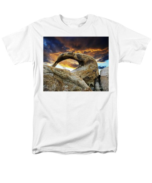 Men's T-Shirt  (Regular Fit) featuring the photograph Mobious Arch California 7 by Bob Christopher