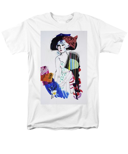 Model With Fashion Hat And Chawl Men's T-Shirt  (Regular Fit) by Amara Dacer