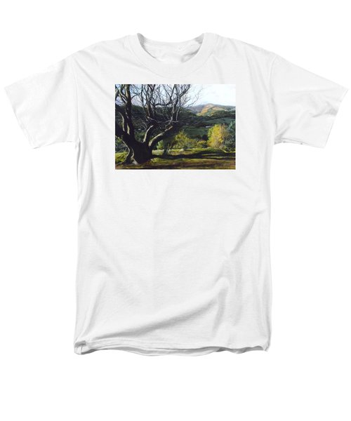 Men's T-Shirt  (Regular Fit) featuring the painting Moel Famau From Loggerheads by Harry Robertson