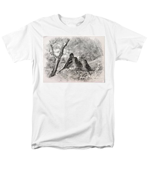 Men's T-Shirt  (Regular Fit) featuring the photograph Mom, I Am Hungry by Debby Pueschel