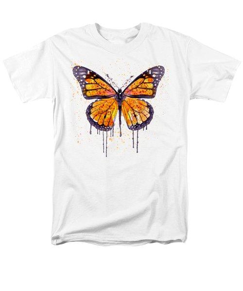 Monarch Butterfly Watercolor Men's T-Shirt  (Regular Fit)