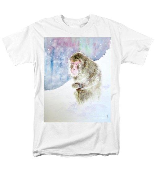 Monkey In Meditation Men's T-Shirt  (Regular Fit) by Yoshiko Mishina