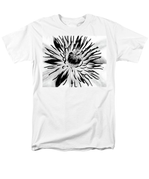 Men's T-Shirt  (Regular Fit) featuring the photograph Mono Clematis by Baggieoldboy