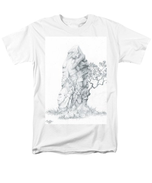 Men's T-Shirt  (Regular Fit) featuring the drawing Monolith 2 by Curtiss Shaffer
