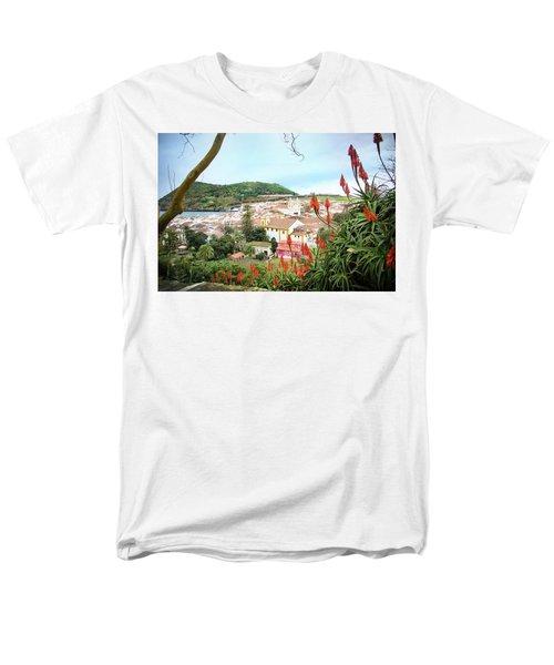Monte Brasil And Angra Do Heroismo, Terceira Men's T-Shirt  (Regular Fit) by Kelly Hazel
