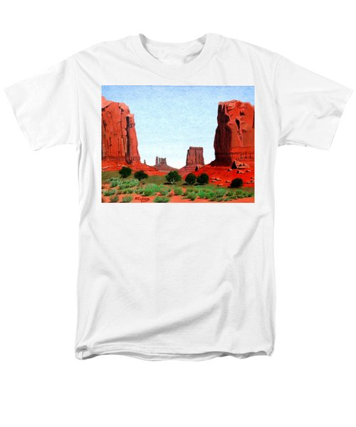 Monument Valley North Window Men's T-Shirt  (Regular Fit) by Mike Robles