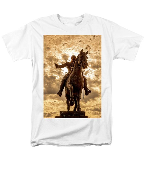 Men's T-Shirt  (Regular Fit) featuring the photograph Monumento A Calixto Garcia Havana Cuba Malecon Habana by Charles Harden