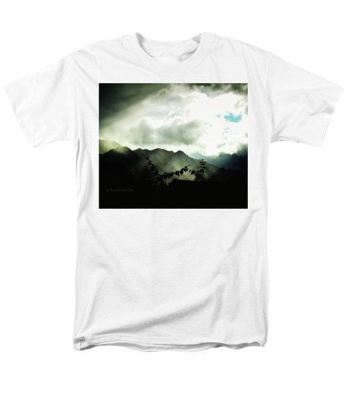 Men's T-Shirt  (Regular Fit) featuring the photograph Moody Weather by Mimulux patricia no No