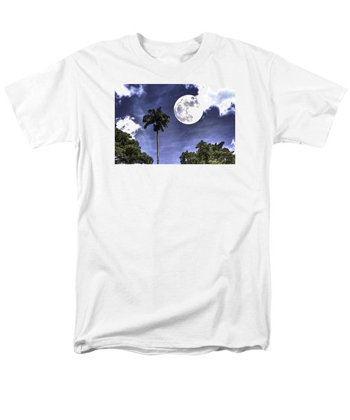 Men's T-Shirt  (Regular Fit) featuring the digital art Moon Over Belize Two by Ken Frischkorn