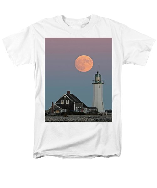 Moon Rise Over Scituate Men's T-Shirt  (Regular Fit) by Stephen Flint