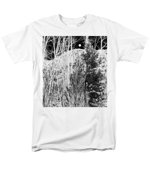 Men's T-Shirt  (Regular Fit) featuring the digital art Moonrise Over The Mountain by Will Borden